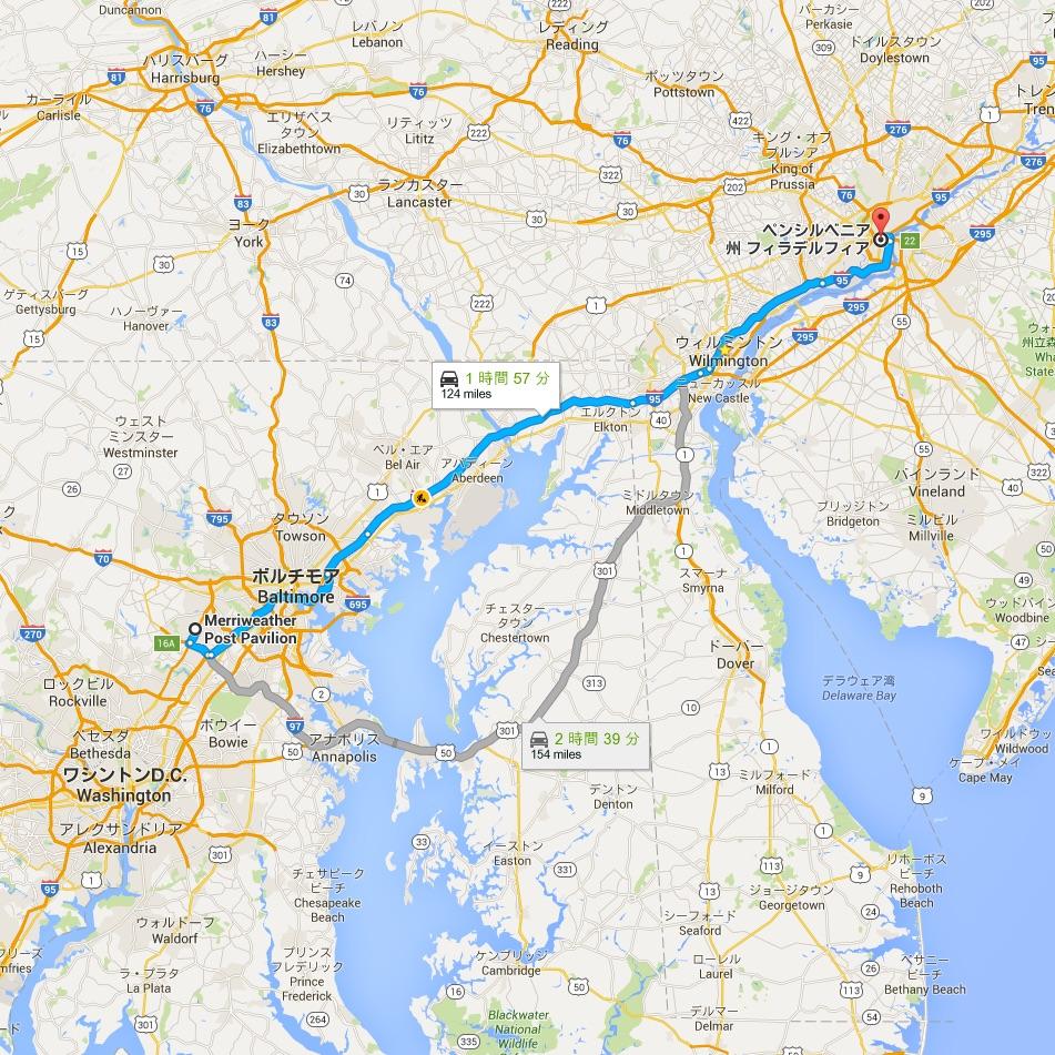 Merriweather_Post_Pavilion_から_ペンシルベニア州_フィラデルフィア_-_Google_マップ